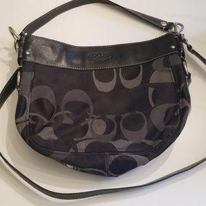 Black coach satchel